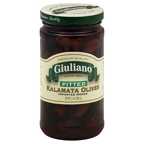 Giuliano Kalamata Olives Pitted, 7 OZ