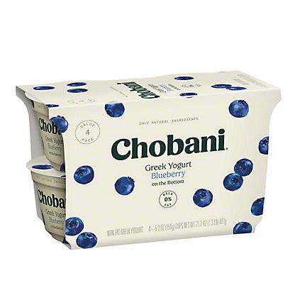 Chobani Non-Fat Blueberry on the Bottom Greek Yogurt, 4 ct