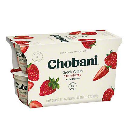 Chobani Non-Fat Strawberry on the Bottom Greek Yogurt, 4 ct