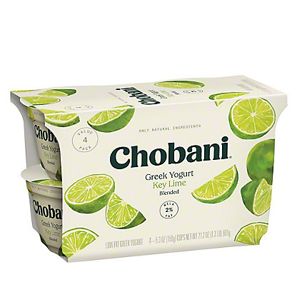 Chobani Low Fat Key Lime Blended Greek Yogurt, 4 ct