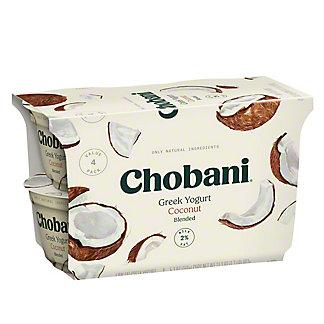 Chobani Low-Fat Blended Coconut Greek Yogurt, 4 ct