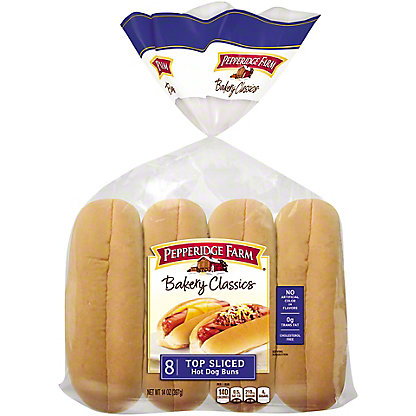 Pepperidge Farm Top Sliced Hot Dog Buns,8 CT