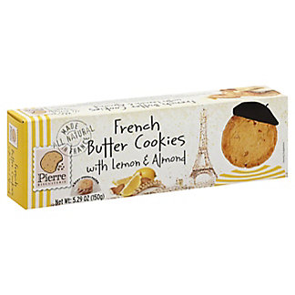 Pierre Biscuiterie French Butter Cookies with Lemon & Almond, 5.29 oz