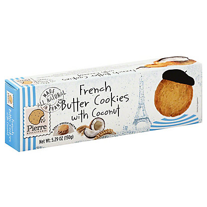 Pierre Biscuiterie Coconut French Butter Cookies,5.29 oz