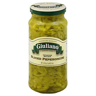 Giuliano Sliced Golden Greek Peperoncini,16 OZ