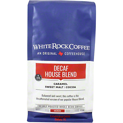 White Rock Coffee House Blend Swiss Water Decaf, 12 OZ