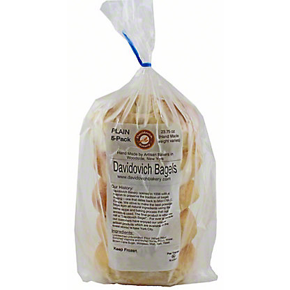 Davidovich Bagels Plain, 20OZ