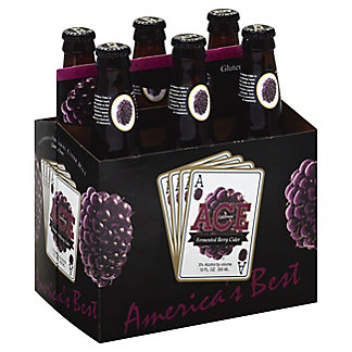 Ace Berry Cider 6 PK Bottles, 12 OZ