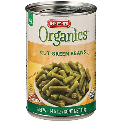 H-E-B Organics Cut Green Beans,14.5 OZ