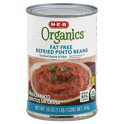 H-E-B Organics Fat Free Refried Pinto Beans, 16 oz