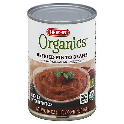 H-E-B Organics Refried Pinto Beans,16 OZ