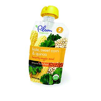 Plum Organics Stage 2 Kale, Sweet Corn and Quinoa Baby Food,3.5 OZ