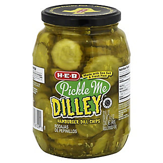 H-E-B Pickle Me Dilley Hamburger Dill Chips, 32 oz