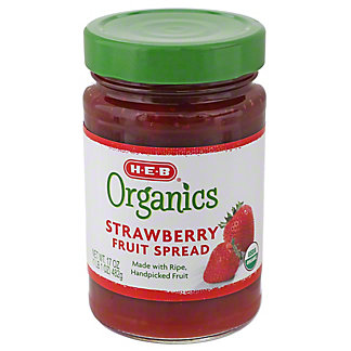 H-E-B Organics Strawberry Fruit Spread, 17 oz