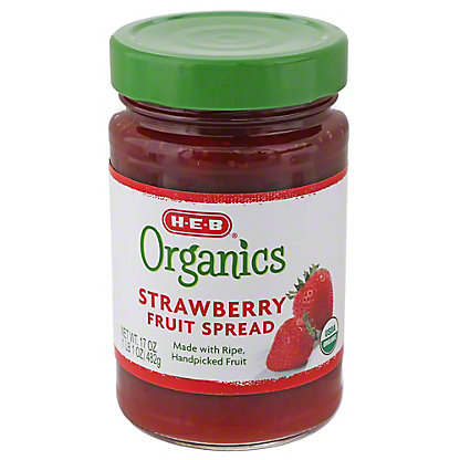 H-E-B Organics Strawberry Fruit Spread, 17 oz