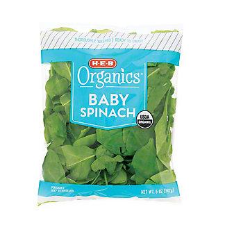H-E-B Organics Baby Spinach, 5 oz