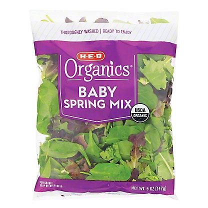 H-E-B Organics Baby Spring Mix, 5 oz