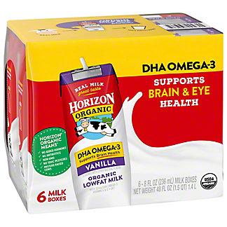 Horizon Organic Lowfat Vanilla Milk 6 PK, 8 oz