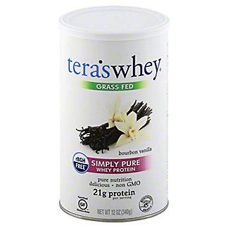Tera's Whey Bourbon Vanilla rBGH Free Whey Protein,12 OZ