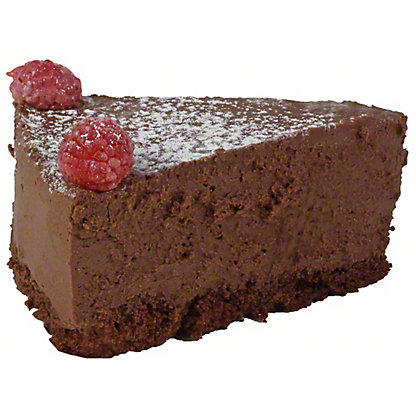 Central Market Chocolate Raspberry Truffle Cake Slice, ea