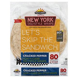 Tumaro's NY Deli Style Cracked Pepper Wrap,4 CT