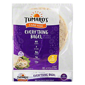 Tumaro's NY Deli Style Everything Wrap,4 CT