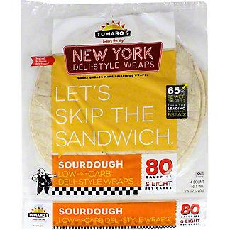Tumaro's NY Deli Style Sourdough Wrap,4 CT