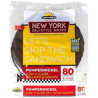 Tumaro's NY Deli Style Pumpernickel Wrap,4 CT