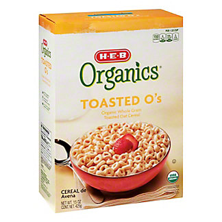H-E-B Organics Toasted O's Cereal, 15 oz