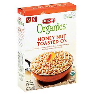 H-E-B Organics Honey Nut Toasted O's,14 OZ