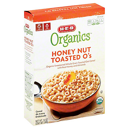 H-E-B Organics Honey Nut Toasted O's,14 OZ