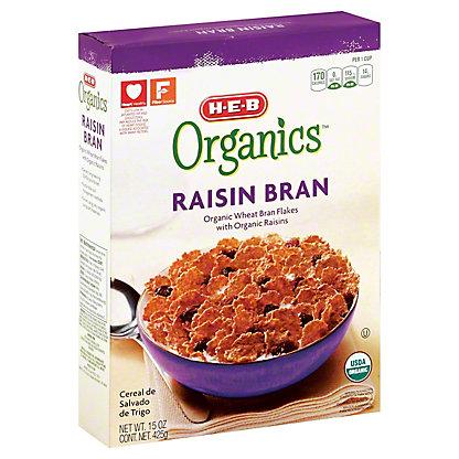 H-E-B Organics Raisin Bran,15 OZ