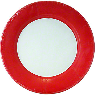 CASPARI Dinner Plate Linen Red, 8 ct