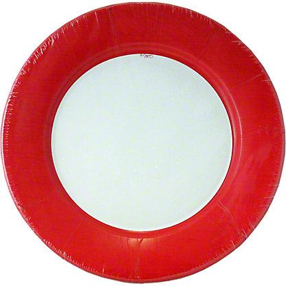 CASPARI Dinner Plate Linen Red, 8 ct