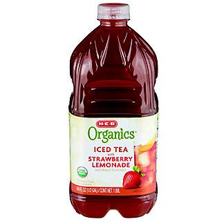 H-E-B Organics Iced Tea with Strawberry Lemonade,64.00 oz