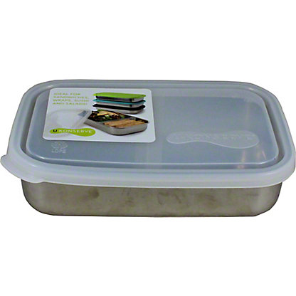 Kids Konserve Clear Rectangle Container W/divider, Ea