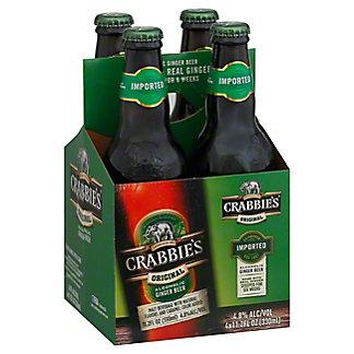 Crabbie's Original Alcoholic Ginger Beer 4 PK Bottles,11.2 OZ