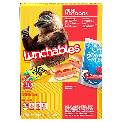 Oscar Mayer Lunchables Mini Hot Dogs Lunch Combinations, 3.3 oz