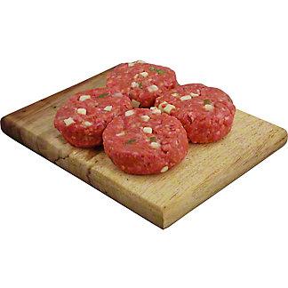 Central Market Hot Hatch Asadero Slider Mini Seasoned Beef Burgers, Lb