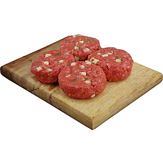 Central Market Hot Hatch Asadero Slider Mini Seasoned Beef Burgers, Lb