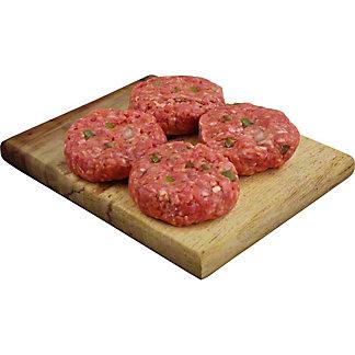 Central Market Hot Hatch Slider Mini Seasoned Beef Burgers, Lb