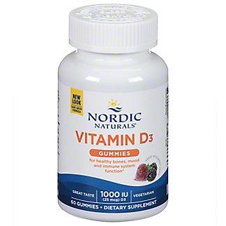 Nordic Naturals Vitamin D3 Gummies,60 CT