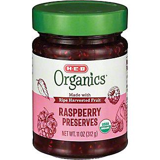H-E-B Organics Raspberry Preserves, 11 oz