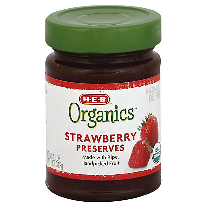 H-E-B Organics Strawberry Preserves,11 OZ