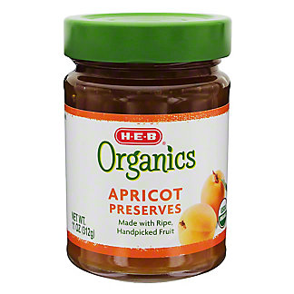 H-E-B Organics Apricot Preserves,11.00 oz