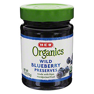 H-E-B Organics Wild Blueberry Preserves,11.00 oz