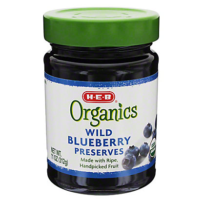 H-E-B Organics Wild Blueberry Preserves,11.00 oz