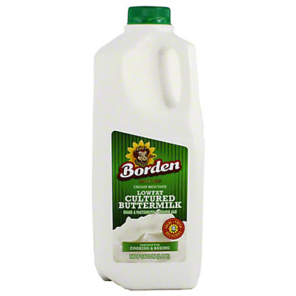 Borden Lowfat 1% Buttermilk, 64 oz