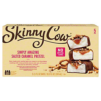Skinny Cow Salted Caramel Pretzel Ice Cream Candy Bars,5 CT