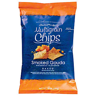 Central Market Smoked Gouda Multigrain Baked Chips, 10 oz